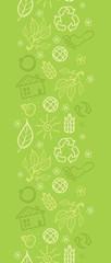 Vector eco environmental vertical seamless pattern ornament