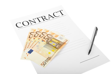 Contract with money
