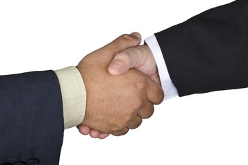 Handshake between two men