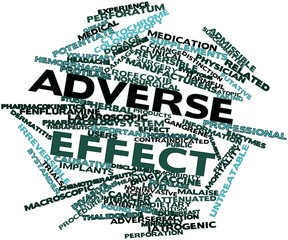 Word cloud for Adverse effect