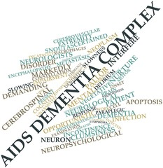 Word cloud for AIDS dementia complex