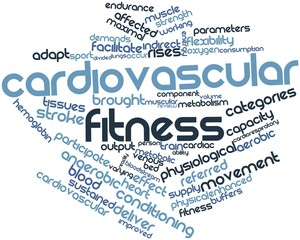 Word cloud for Cardiovascular fitness