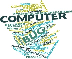Word cloud for Computer bug
