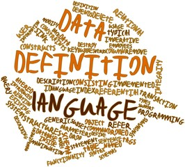 Word cloud for Data definition language