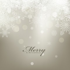 beauty christmas card background with snowflake