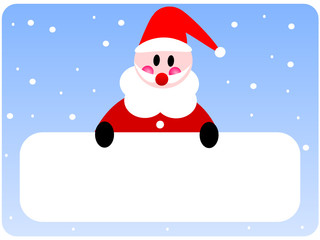 Gift Card with Santa Claus