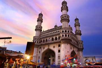 Deurstickers India 400 Year old historic Charminar in Hyderabad India