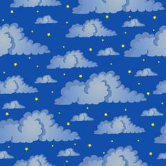Seamless background night sky