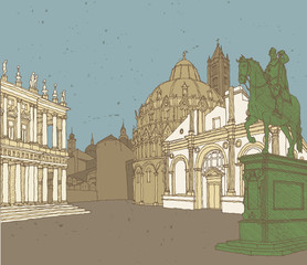 Composition of Italian Architecture (collage)