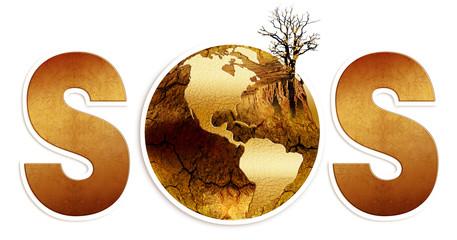s.o.s dla ziemi, susza, zagłada globu - fototapety na wymiar