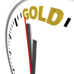 Uhr, Gold,