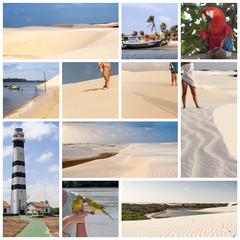 Sole, mare e dune di sabbia nei Lençois Maranheses in Brasile
