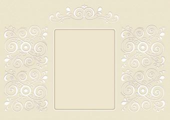 zaproszenie, zdjęcie,  zdobione ornamentem