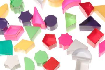 Different geometric shapes background triangle diamond circle