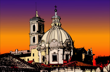 Cartoline dall'Italia - Uno scorcio di Roma
