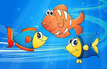 Poster Submarine Fish