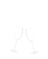 Two empty new year champagne  Glasses