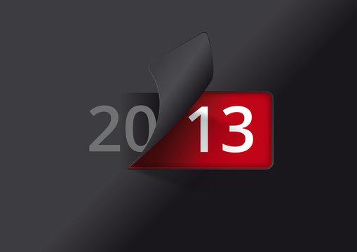 Carte de voeux 2013 - On tourne la page (version noire)