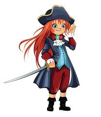 Foto op Plexiglas Piraten Girl Pirate