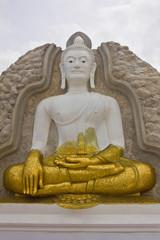 White and gold Buddha