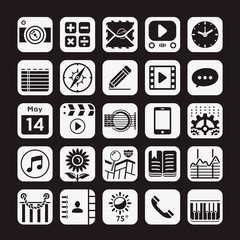 Application  icons for smartphone and web. Vector illustration.