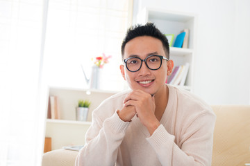 Smiling Southeast Asian male