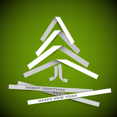 Simple vector paper christmas tree