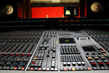 recording desk sound studio