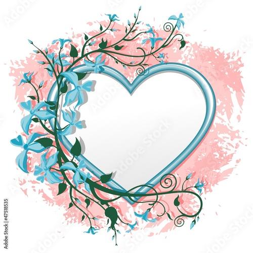Valentine\'s Day Romantic Love Heart Frame-Cuore Cornice di Fiori ...