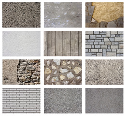 Set of wall texture backgroung.