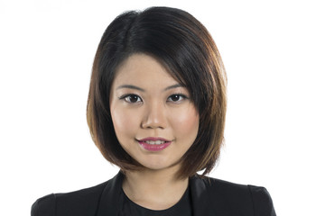 Portrait of a happy Chinese businesswoman.
