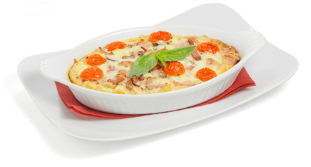 Casserole with tomatoes