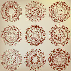 Set of ethnic ornaments hand-drawn