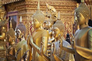 Row of Buddhas in Wat Phrathat Doi Suthep, Chiang Mai
