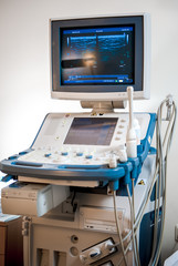 Medical ultrasonography machine at hospital