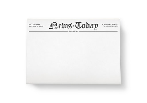 Newspaper with blank space