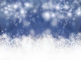 Winterzauber, Weihnachtszeit, Schnee und Sterne