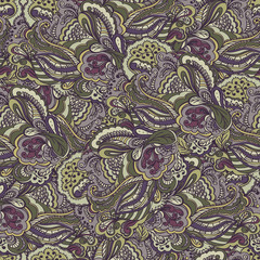 Retro semless pattern background. Floral design