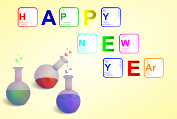 Happy New Year in Sciene style