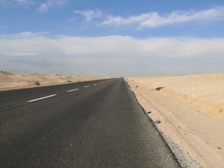 Fotobehang Egypt. Road.
