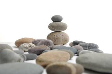 Balancing of pebbles. Clipping path