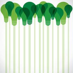 green bulb background stock vector