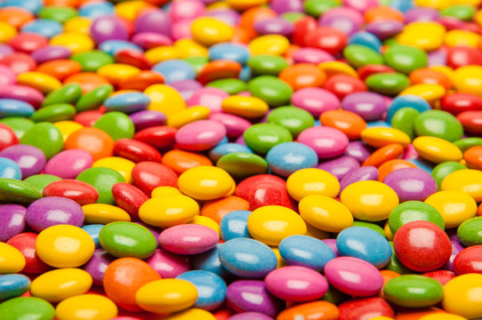 multi colored candies
