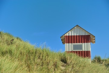 Hütte in den Dünen