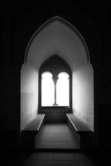 Moorish window of Alcazar Segovia