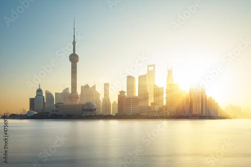 Wall mural Shanghai skyline