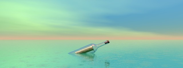 bottle and sea
