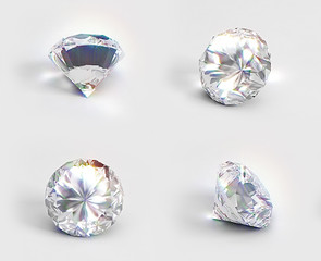 Different views of isolated diamonds