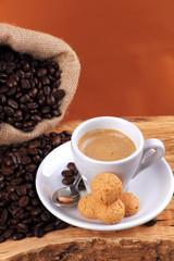 Espresso con amaretti