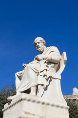 Fototapete - statue of Plato in the Academy of Athens,Greece